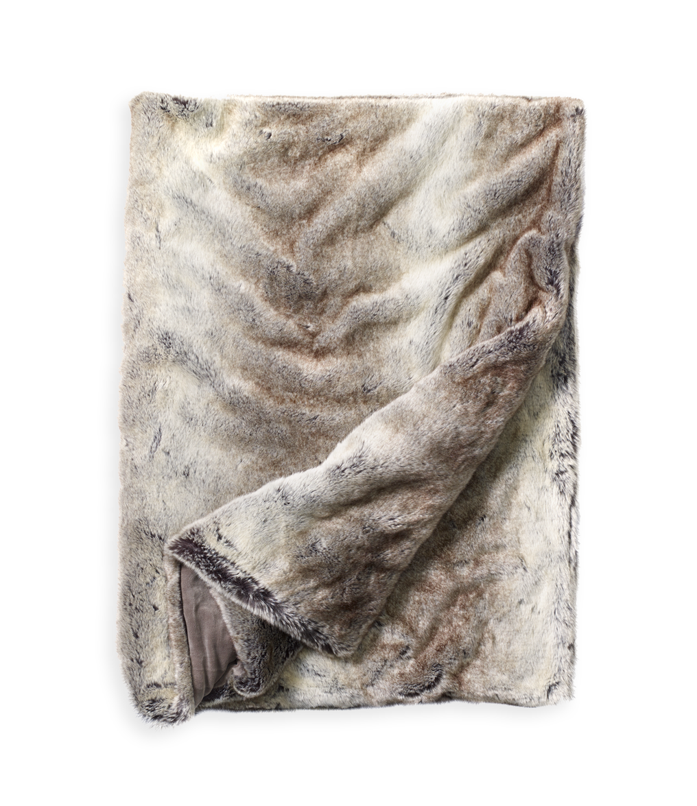 Imitatiebont Plaid Wolf.Whistler Throw Wolf By Newport Collection Whistler Fur