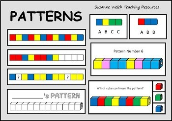 repeating patterns cards strips and activities pattern boards card patterns math. Black Bedroom Furniture Sets. Home Design Ideas