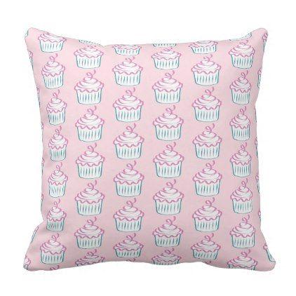 #pretty - #Cupcake Throw Pillow