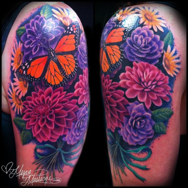 Cool Tattoo Backgrounds: Butterfly And Flowers - Megan Massacre
