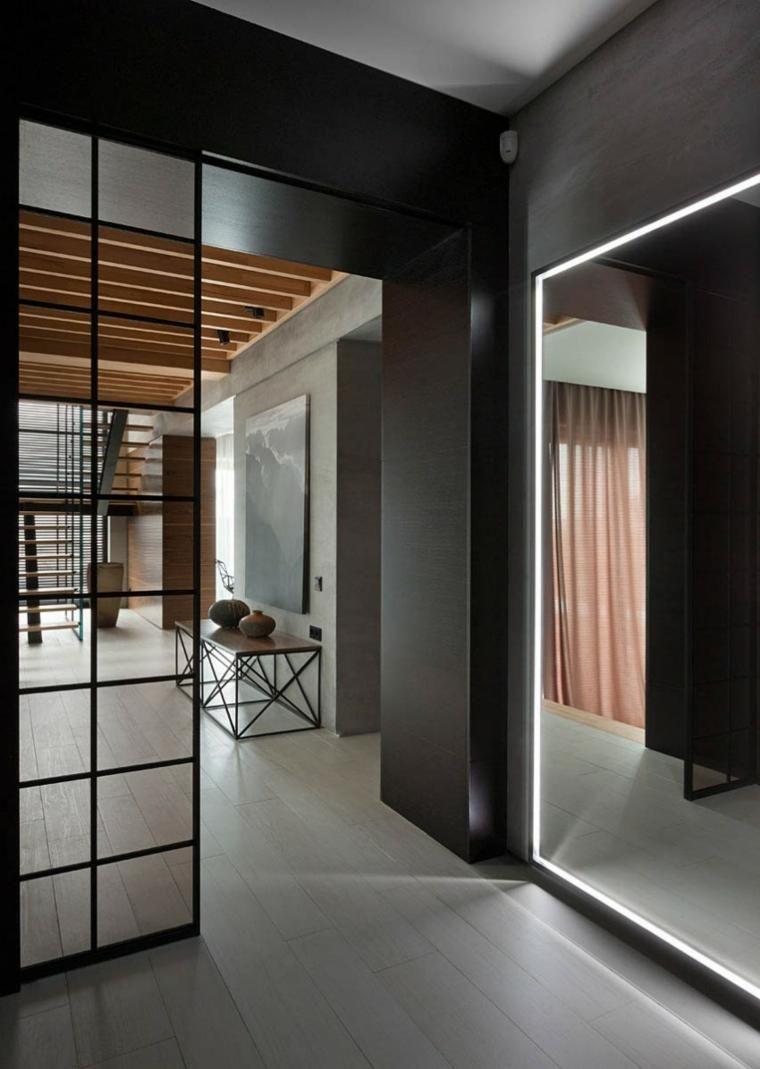 Wände mit Stein und indirekter Beleuchtung dekoriert | Haus and ...