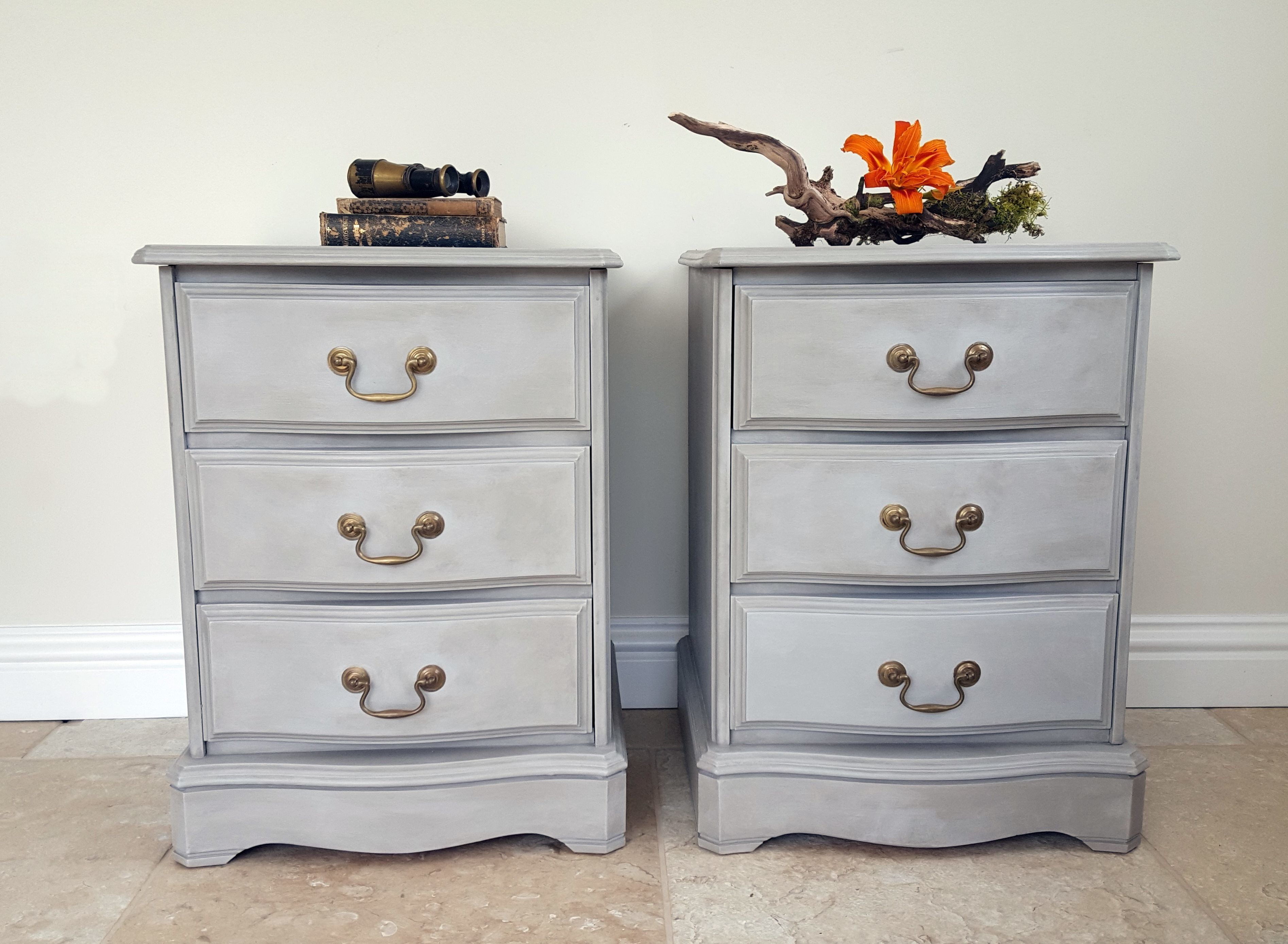 Best Serpentine Bedside Chests Of Drawers Upcycled Grey 400 x 300