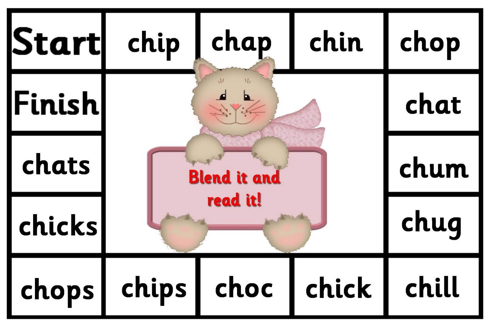 Satpin Blend It And Read It Game Debbie S Resource Cupboard Phonics