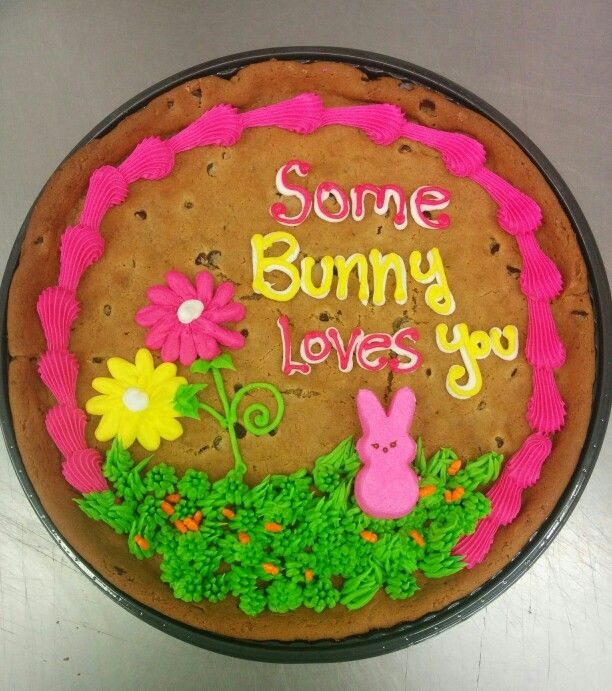 Fantastic Easter Bunny Cookie Cake With Images Decorated Easter Cookies Personalised Birthday Cards Petedlily Jamesorg