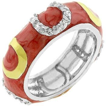 Beautiful Pink Enamel Horseshoe Ring-Free Shipping! $31.99