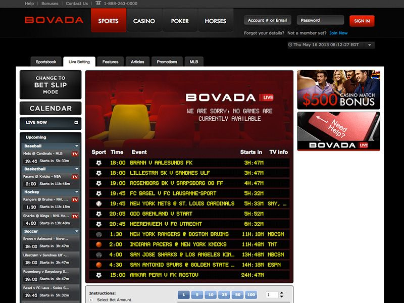 Bovada live betting rules baseball ohio sports betting on phone