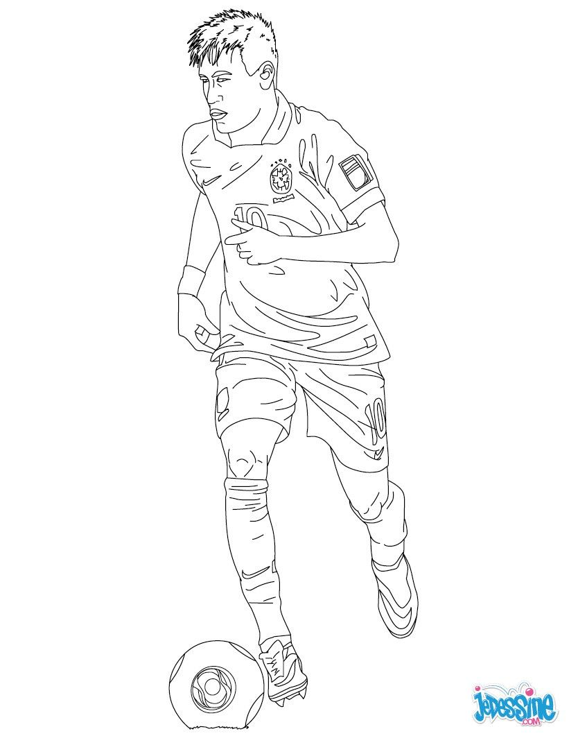 coloriage du joueur de foot neymar   u00c0 imprimer