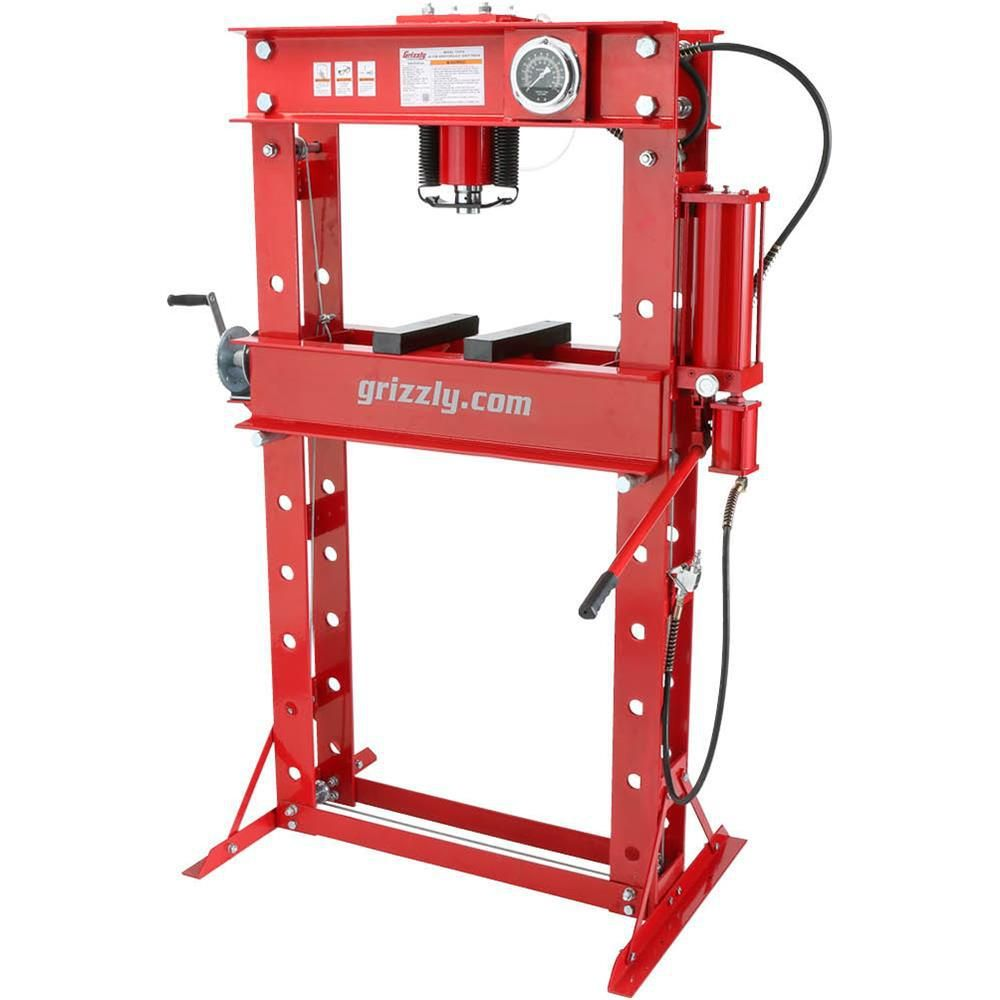 Grizzly T27978 50-Ton Air//Hydraulic Shop Press