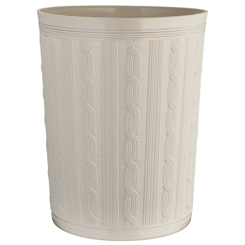 Lakeland Faux Cable Easy Clean Plastic Storage Waste Paper Bin - Cream 10L: Amazon.co.uk: Kitchen & Home