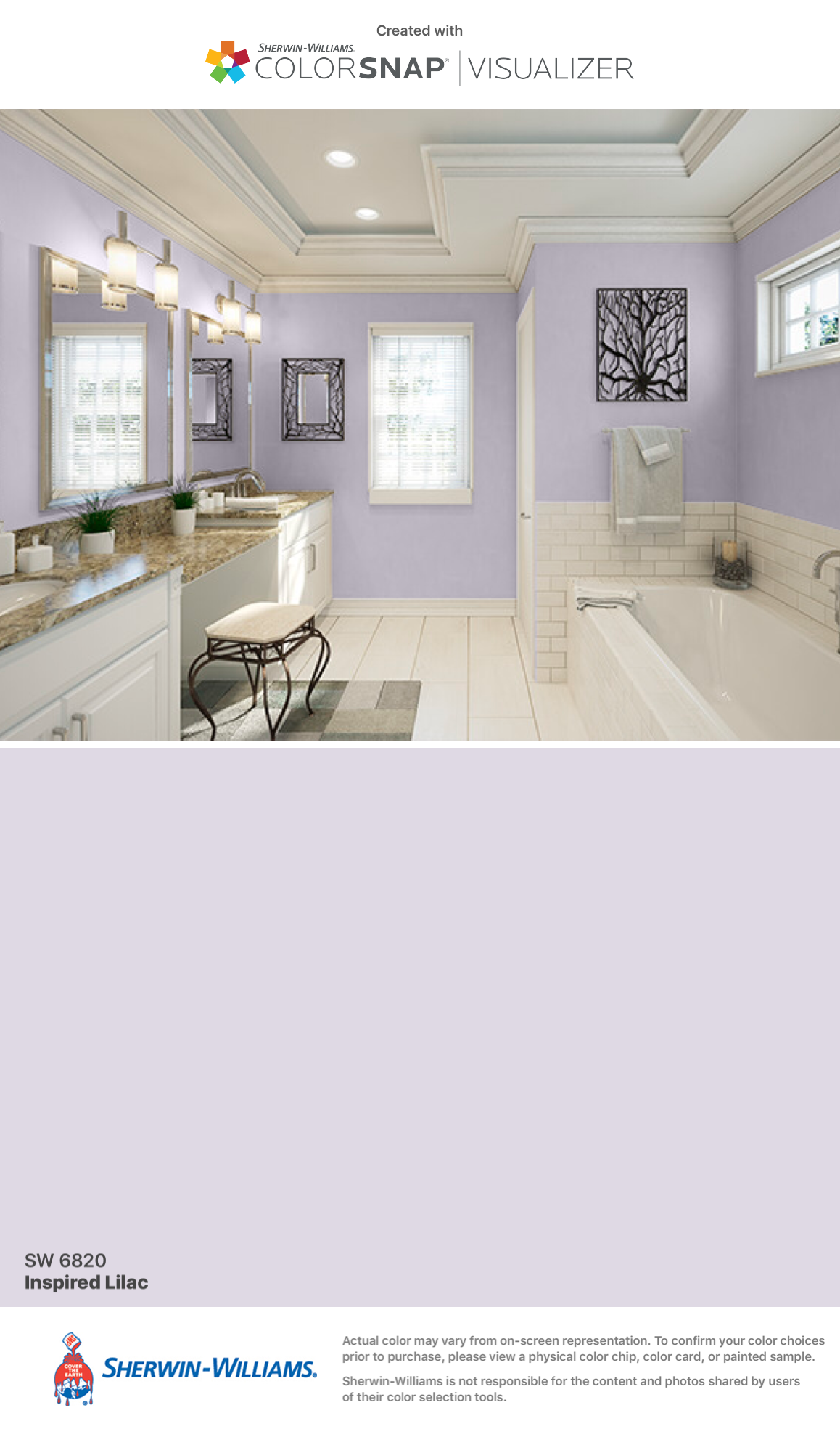 Master Bath option 2: Inspired Lilac (SW 6820) Sherwin-Williams ...