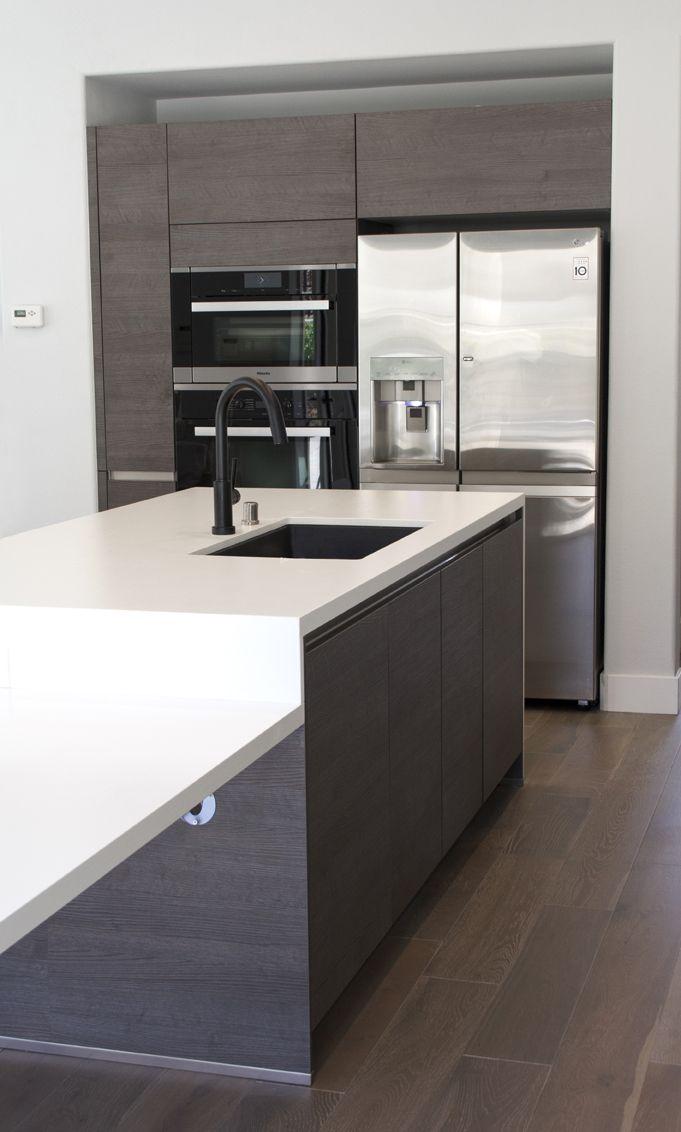 Charming Simi Valley Project | Bauformat | Germany Kitchen Cabinet | Bali 125 Rift  Anthracite Oak |. Loft IdeasGlass CountertopsKitchen ...