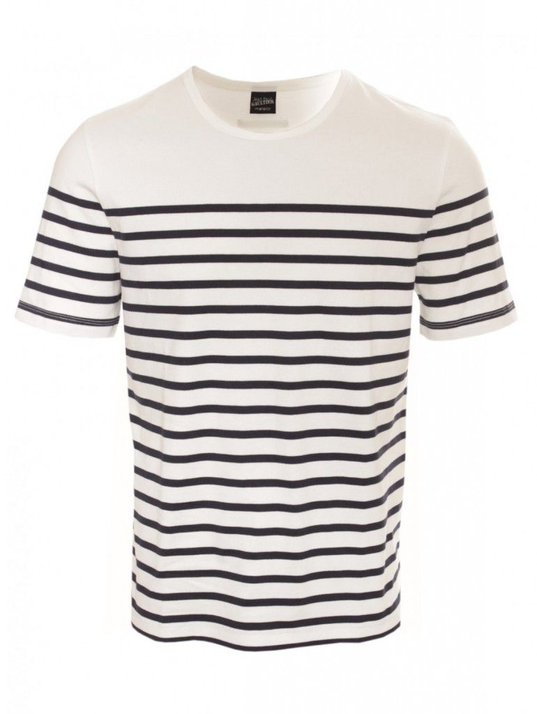 2b3d232ec179 Jean Paul Gaultier Navy/White Striped T Shirt | menswear. in 2019 ...