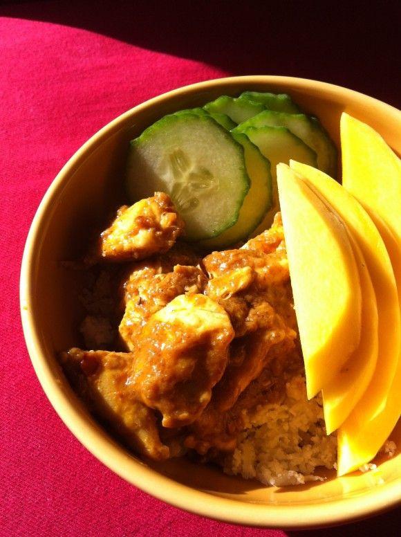 Spicy Mango Chicken Coconut Curry - Whole30 Recipe, Paleo, Grain-free, Dairy-free, Nut-free