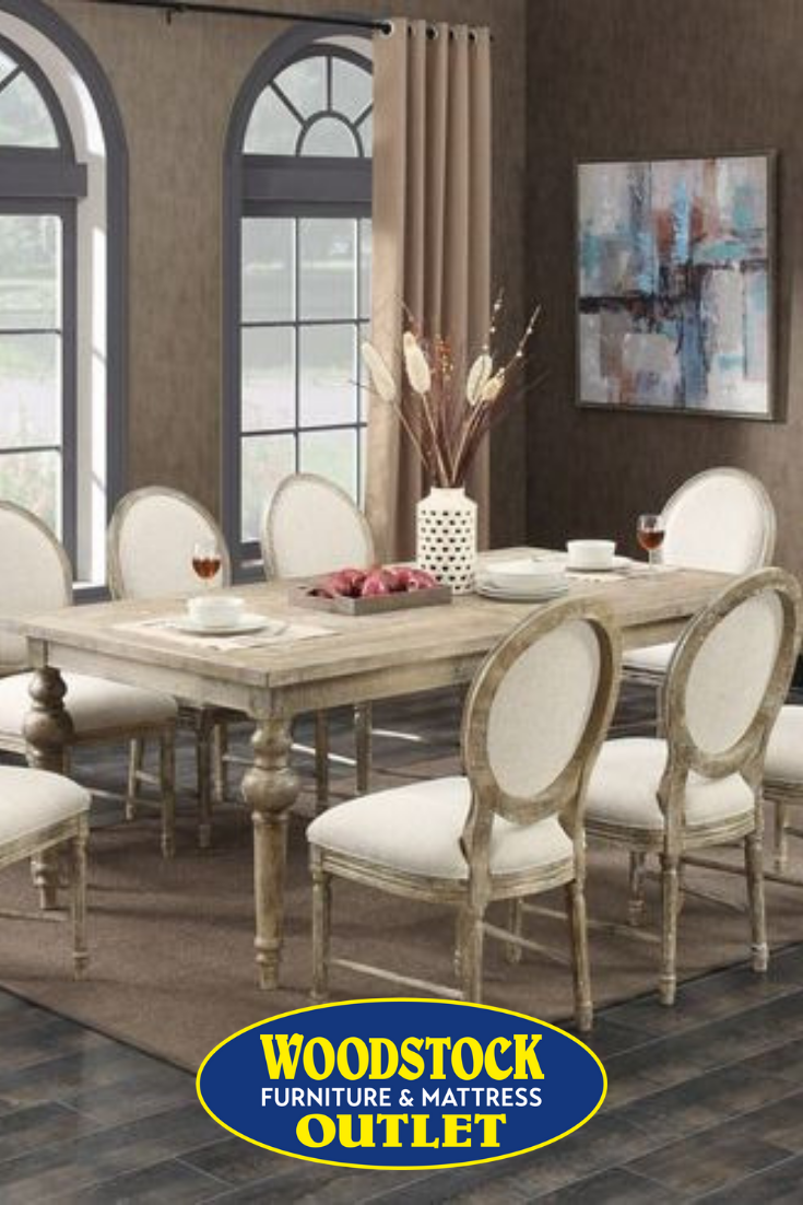 Set Includes Rectangle Dining Table And 4 Oval Back Side Chairs
