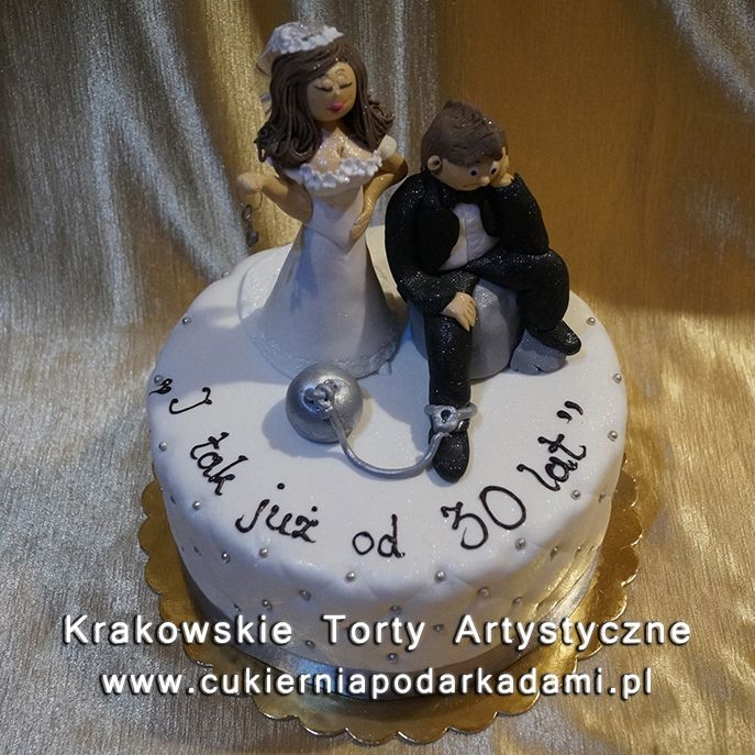 2e9caa35266c1a Tort na 30stą rocznicę ślubu. Cake for 30th wedding anniversary. Krakowska  cukiernia ...