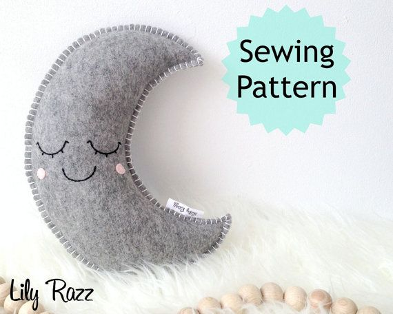 moon pillow baby sewing pattern baby