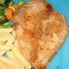 Chicken Breasts - Italian dressing & breadcrumbs. Made this tonight for dinner. Added some oregano and parmesan to the breadcrumbs.