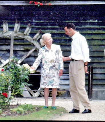 Mme Carven (1909-2015) photographed with Lloyd Klein circa 1996 in Chantilly France