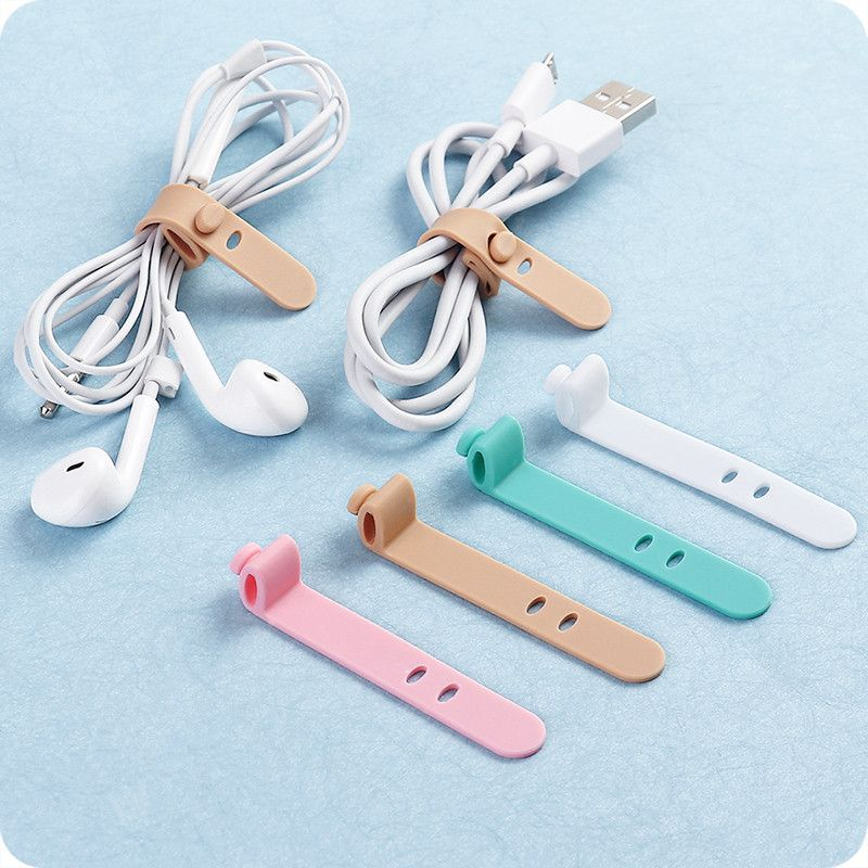 4PCS Multifunction Magnetic Earphone Cord Winder Organizer Cable Holder Clips