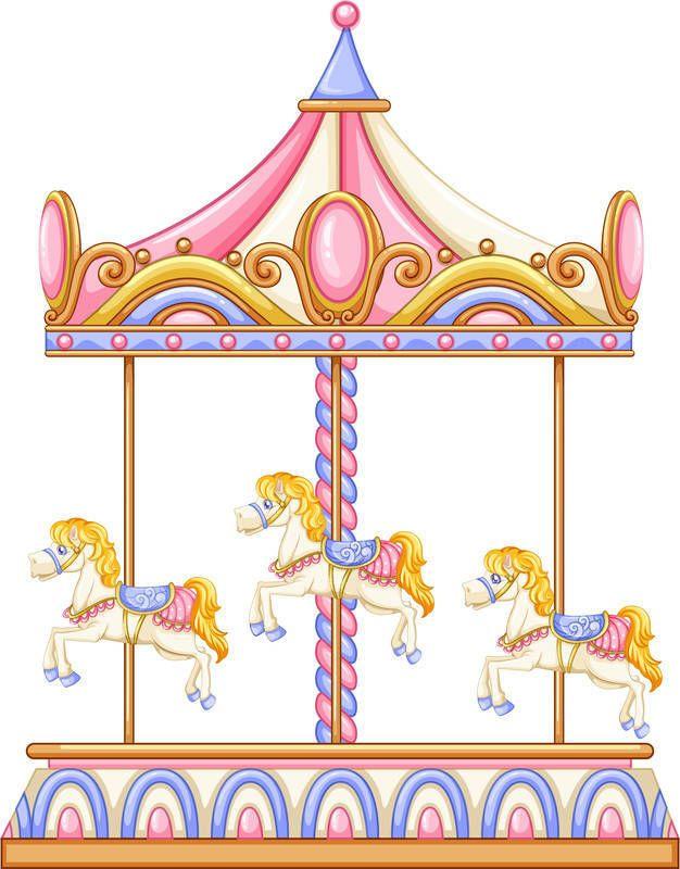 merry go round horse template - theme carousel cakes vector design art pinterest