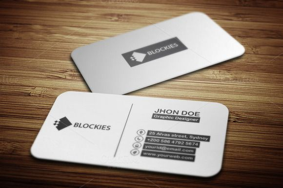Check Out Rounded Rectangle Business Card By JigsawLab On - Rounded business card template