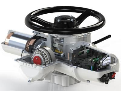 The Rotork IQ3 cutaway photo illustrates some of the