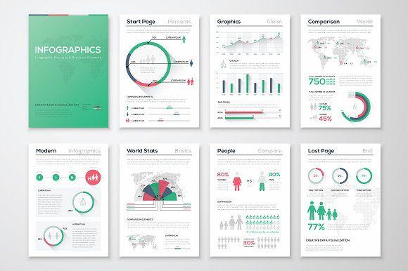 Infographic Brochure Elements 8 Infographic Templates Brochures