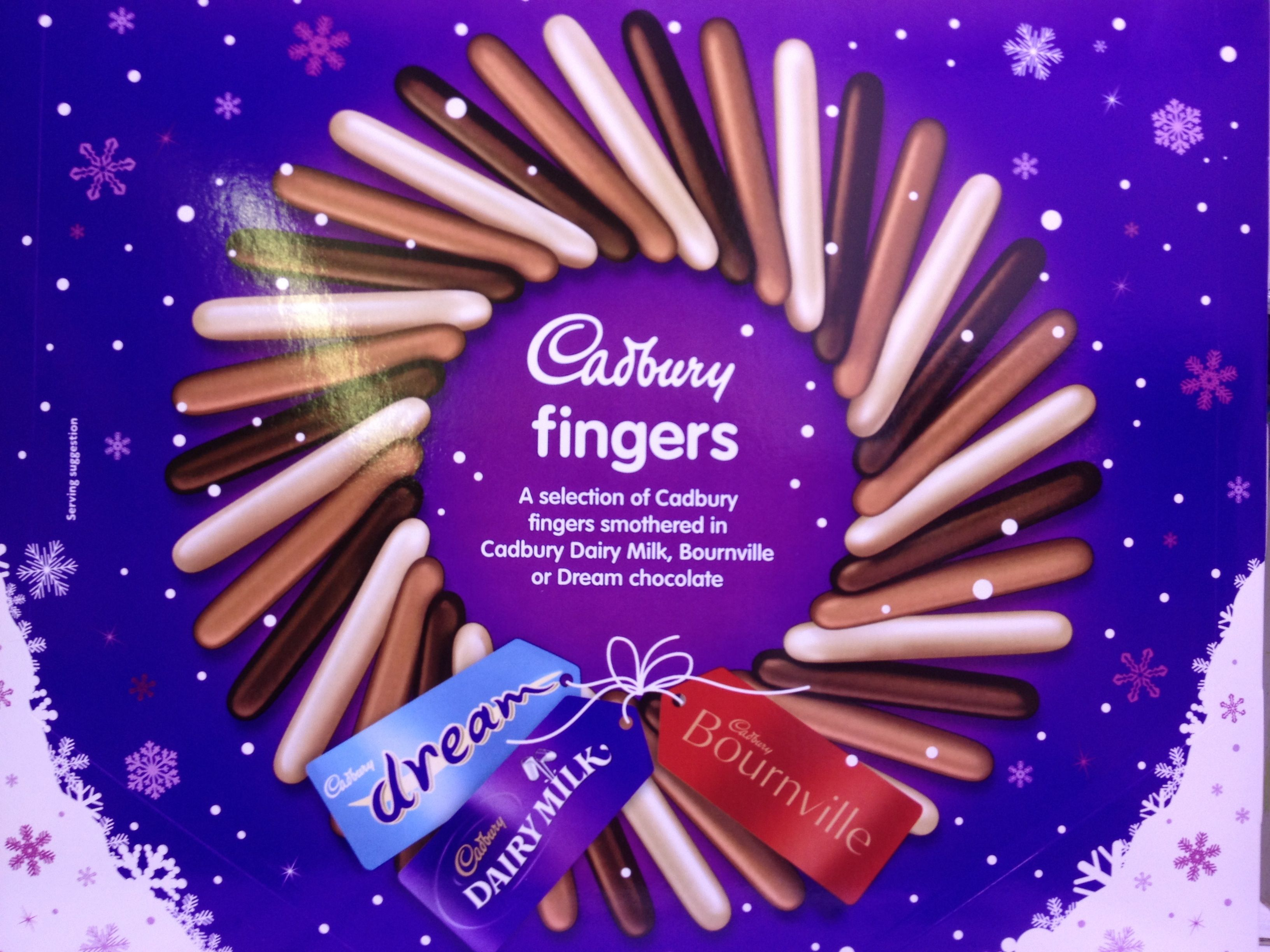 Cadbury Fingers Selection 375g. Great for Christmas!
