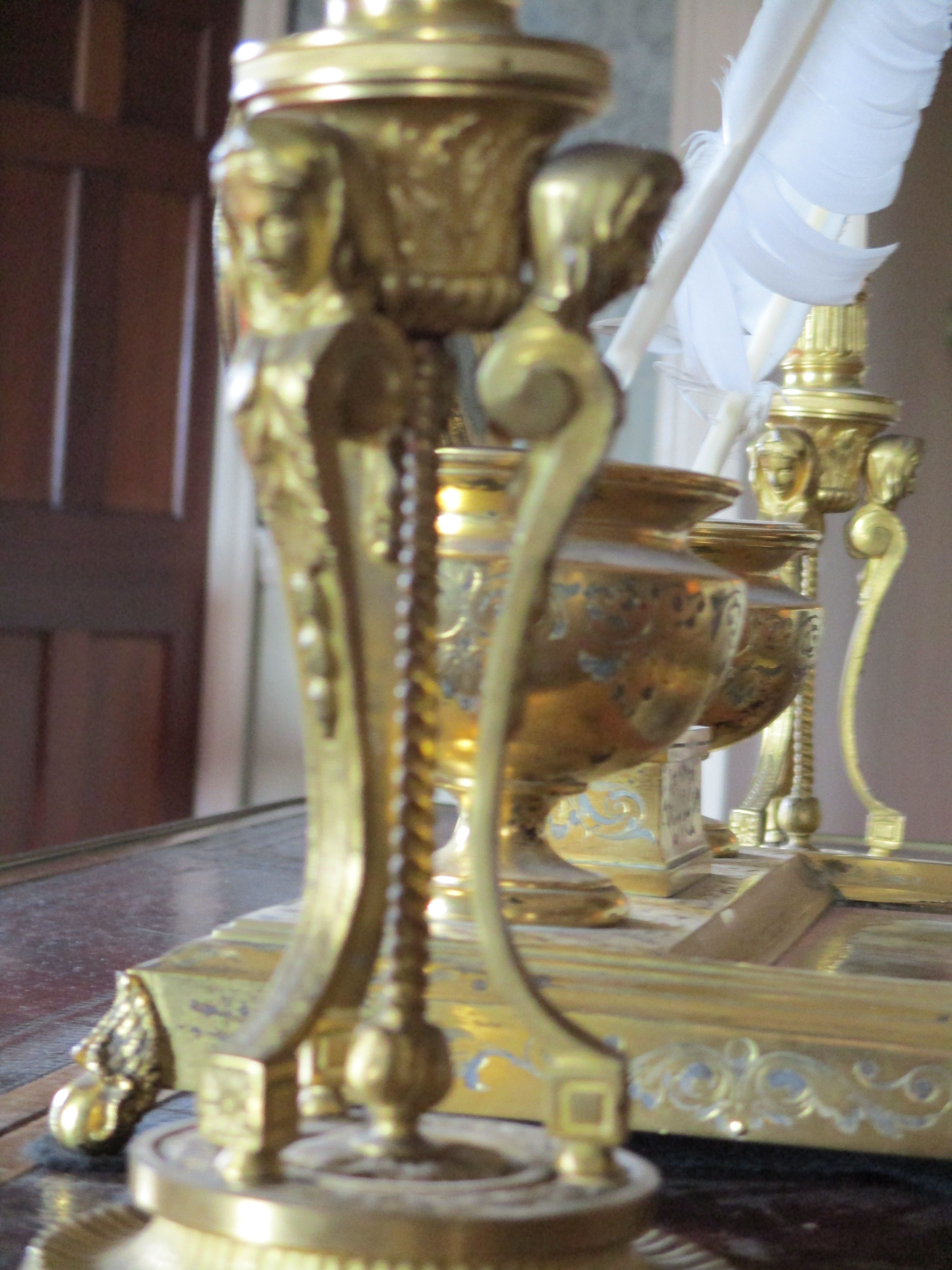 19th Century Drawing Room: Pair Of Candle Holders. Circa. 19th Century. Currently
