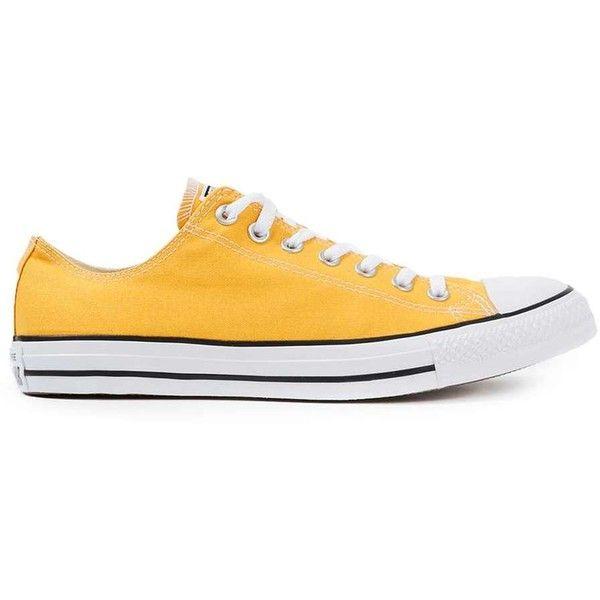 TOPMAN Converse Yellow Canvas Plimsolls