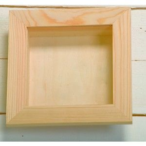 Large Square Wooden 3 D Deep Shadow Box Frame With Removable Perspex 15 X 15 X 3 8cm Wood Papier Mache Deep Shadow Box Shadow Box Frames Wooden Shadow Box