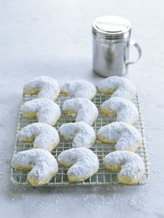 kourabiedes - greek traditional shortbread cookies with walnuts or almonds