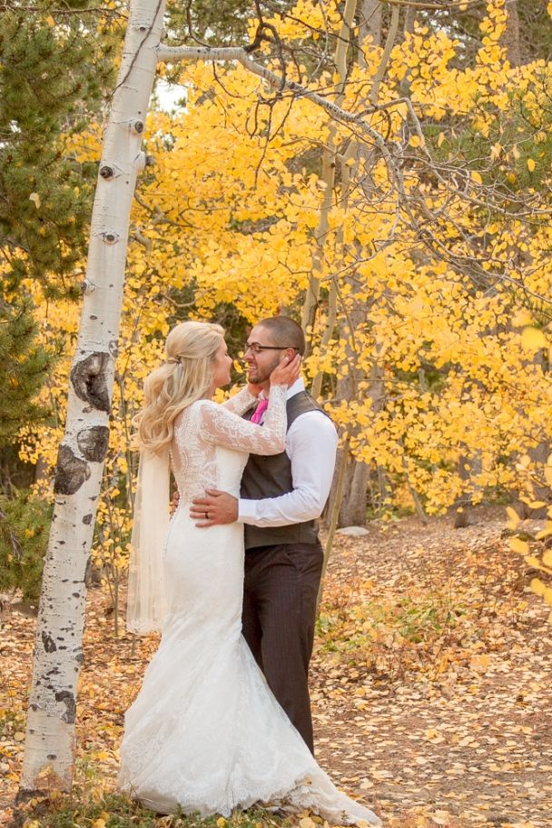 Intimate wedding for two among the Colorado fall aspens at ...