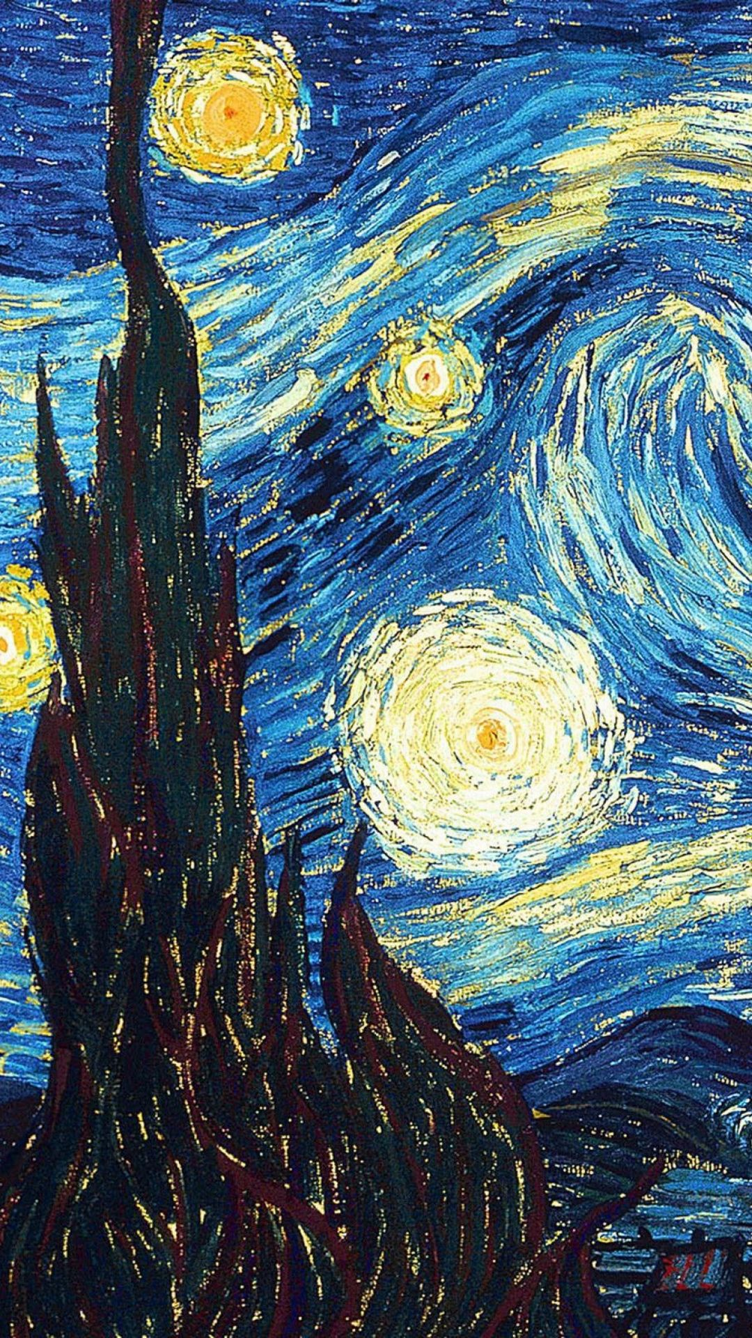 Oil The Starry Night Vincent Van Gogh Infinity Wallpaper Van Gogh Art Van Gogh Wallpaper Art Wallpaper