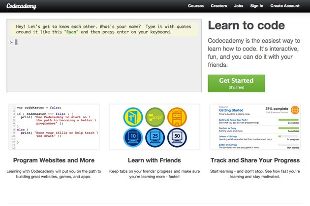 Codecademy Learn To Code Learn To Code Online Learning Sites Web Design Training