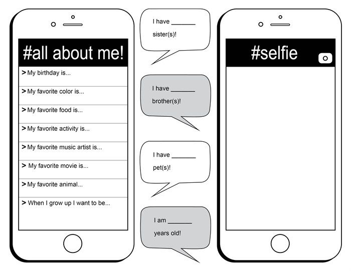 {Image result for free all about me selfie printable – All About Me Worksheet Middle School