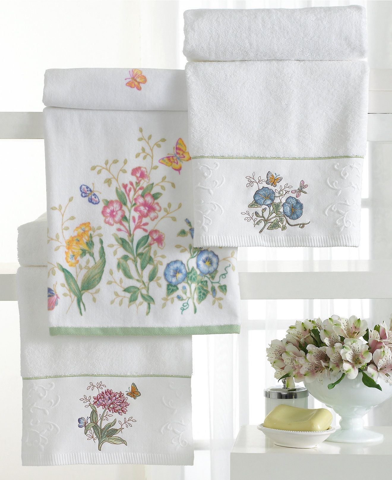 Lenox Butterfly Meadow Towel Collection Bath Towels Bed Bath