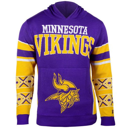 buy popular f5322 9a6b4 Minnesota Vikings Purple Big Logo Ugly Christmas Sweater ...