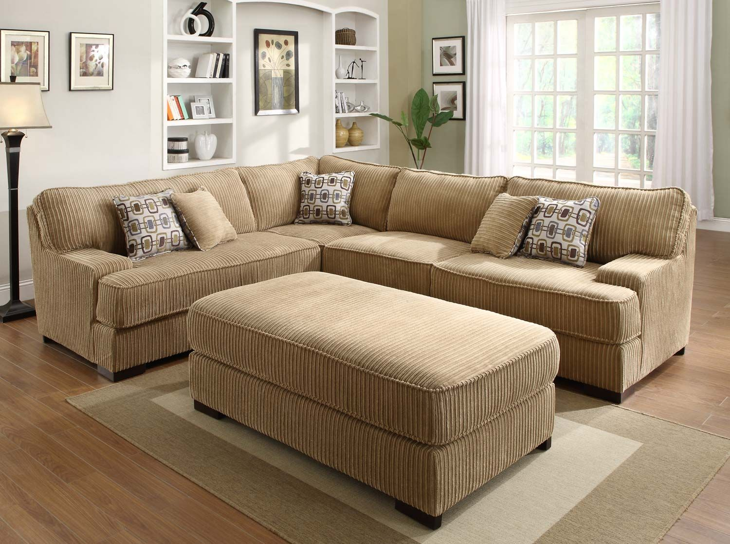Best Homelegance Minnis Sectional Sofa Set Brown Cheap 640 x 480