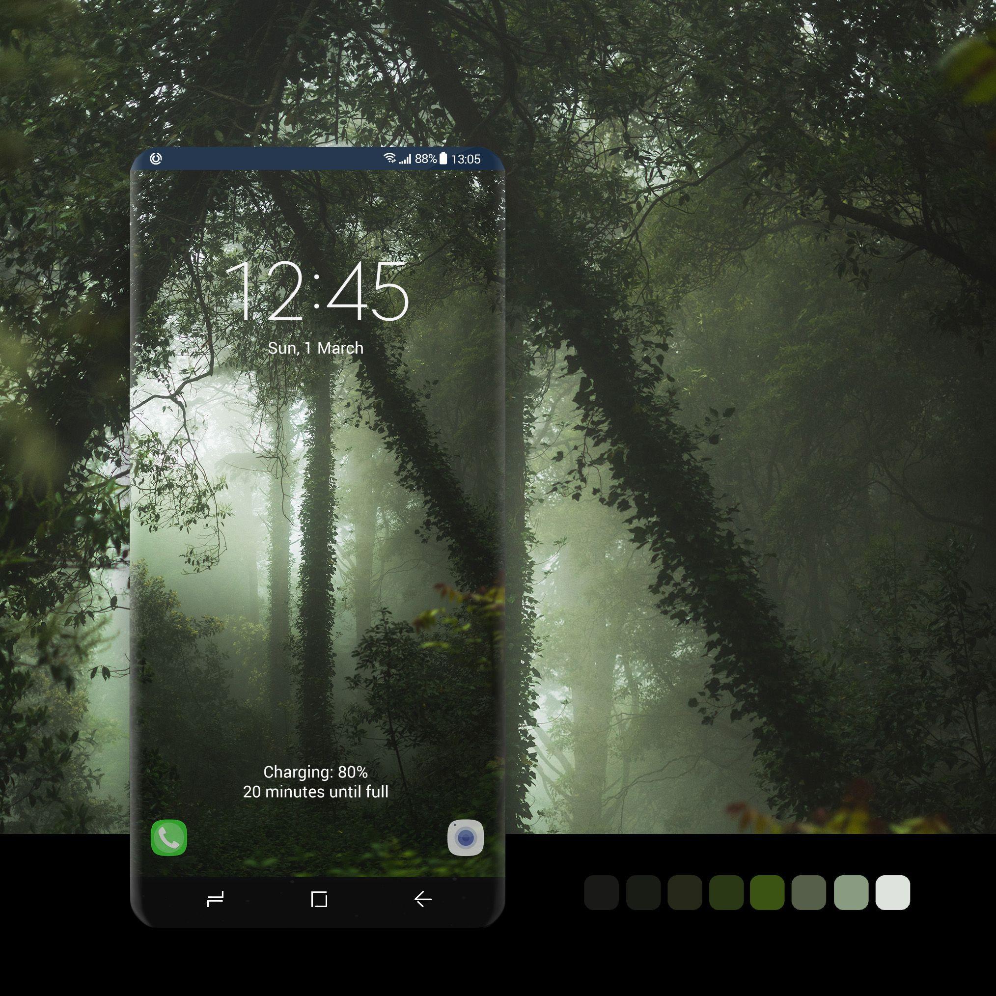 Foggy Forest wallpaper zerustudiowallpaper, android,