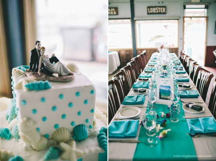 sea-inspired wedding decor | by Stephanie Court Photography #weddings #weddingphotography #weddingdecor