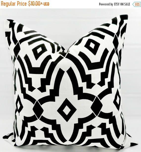 SALE Black & white Pillow cover Chevelle Black Sofa pillow