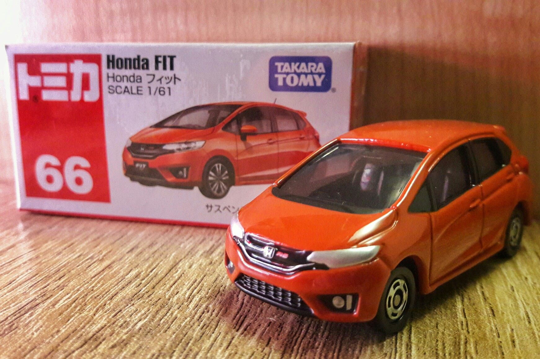 box Tomica No.66 Honda Fit