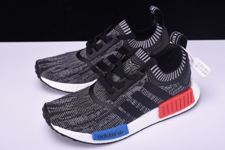 """25f7a537f New adidas NMD R1 Primeknit """"Friends and Family"""" Grey Red White-Blue N00001"""
