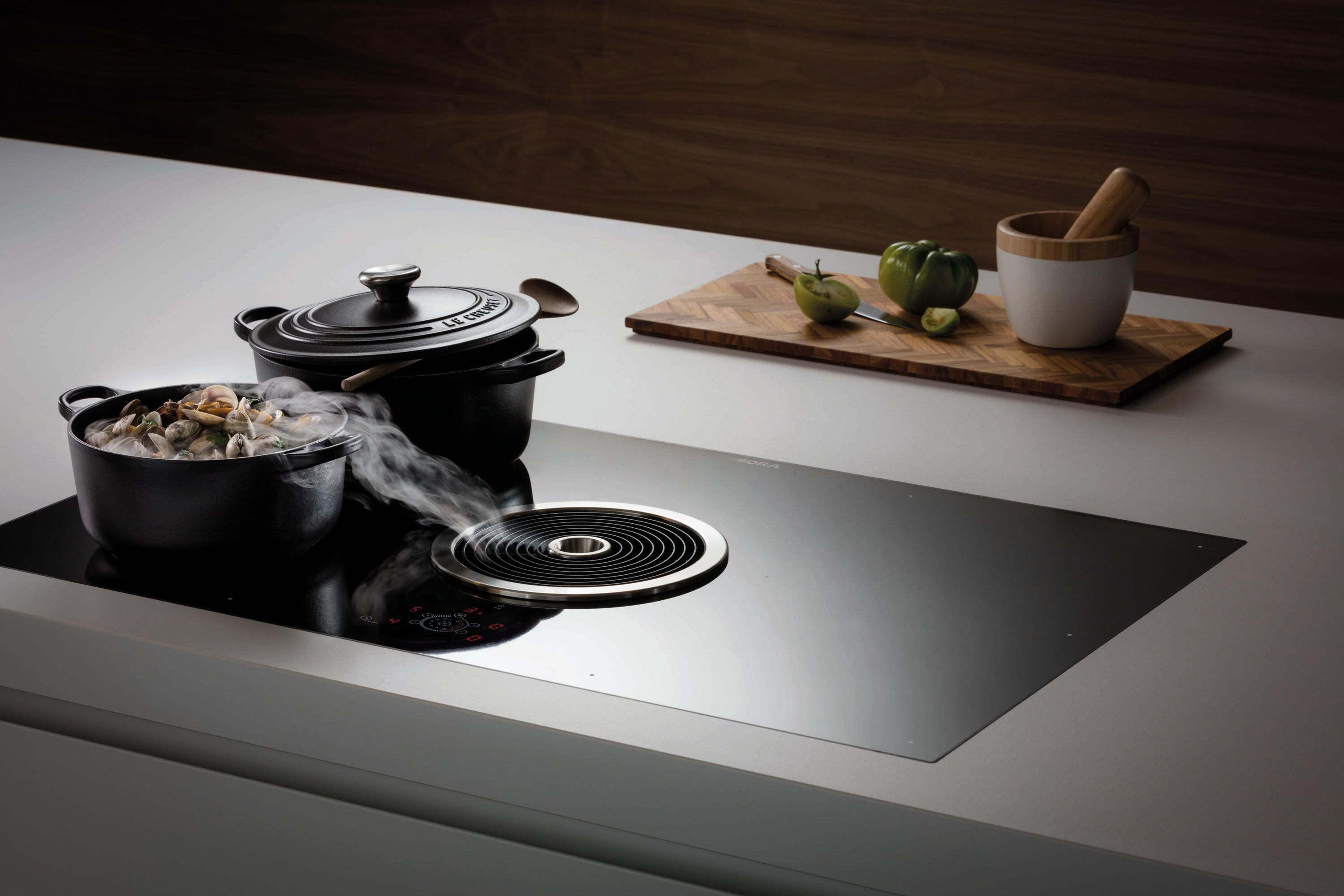 Bfia Surface Induction Glass Ceramic Cooktop With Integrated