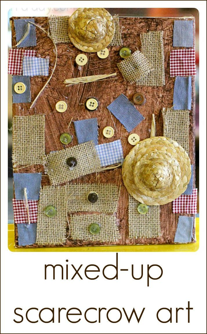 Fall Art Projects for Preschoolers - Scarecrow Process Art | Art for ...
