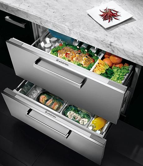 Ariston Double Refrigeration Drawer From Its Experience Line Provides Flexible Functional And El Modern Kitchen Appliances Kitchen Design Refrigerator Drawers