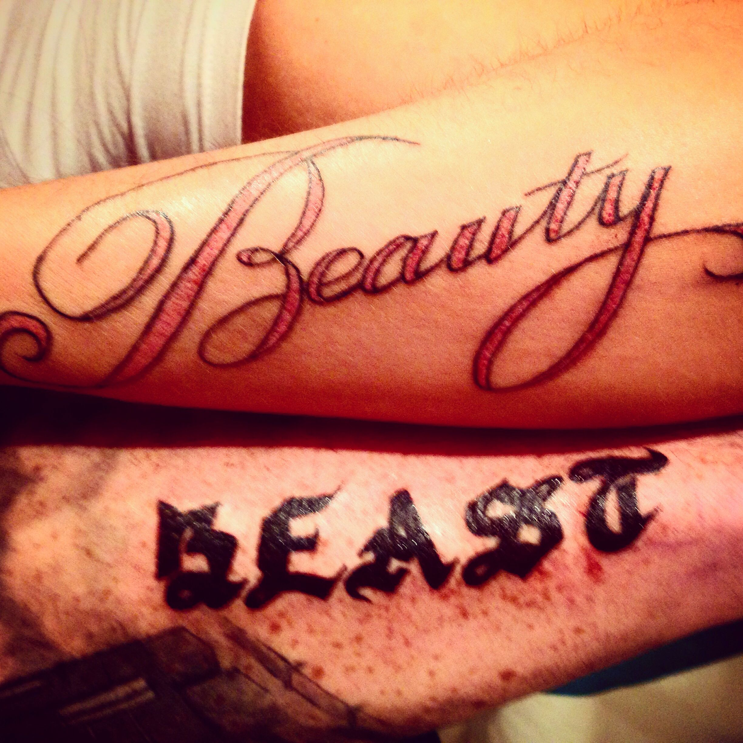 Beauty and the Beast tattoo | Tats | Pinterest | Tattoo ...