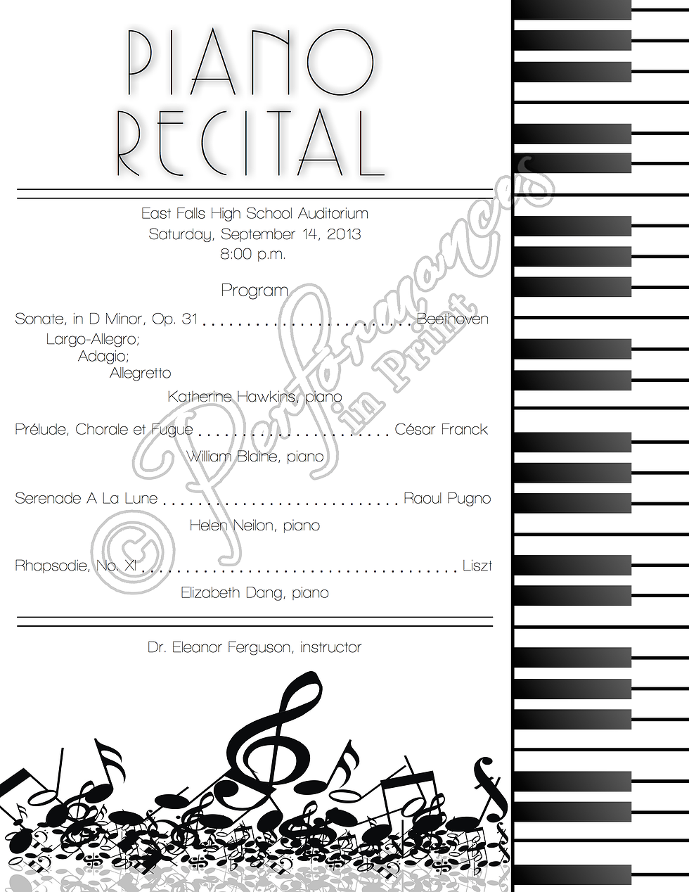 FREE download! Editable recital program templates! | Music Class ...