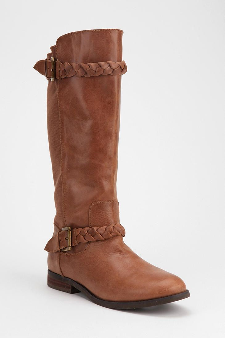 Boot season is right around the corner! #urbanoutfitters #tall #braid #boot #fallfashion >> I need to get a pair of brown boots for this fall/winter...